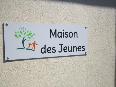 """Plaque """"Maison des Jeunes"""""""
